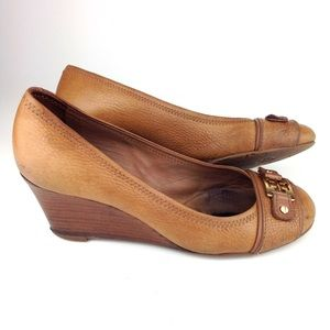 Tory Burch Brown Wedges Size 9 A8